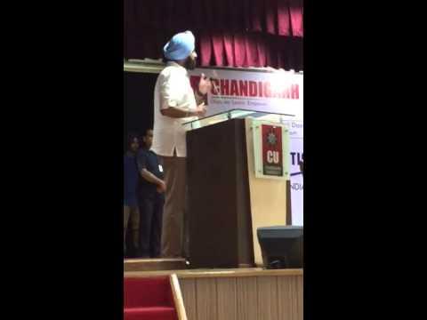 Bikram Majithia on Media  at CU  Gharuan -IJU Conference-4 on Sept 13,2015