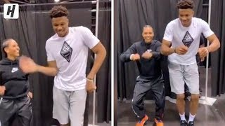 Giannis Antetokounmpo Learns How to Milly Rock!