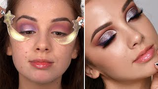 GLITTER MAKEUP TUTORIAL ( kinda lol ) things were not going smoothly but I tried