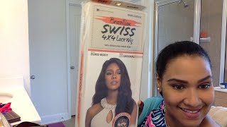 Brazilian Swiss Lace Euro Body Human hair WIg