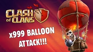 x999 Balloons ATTACK!!! Clash of Clans