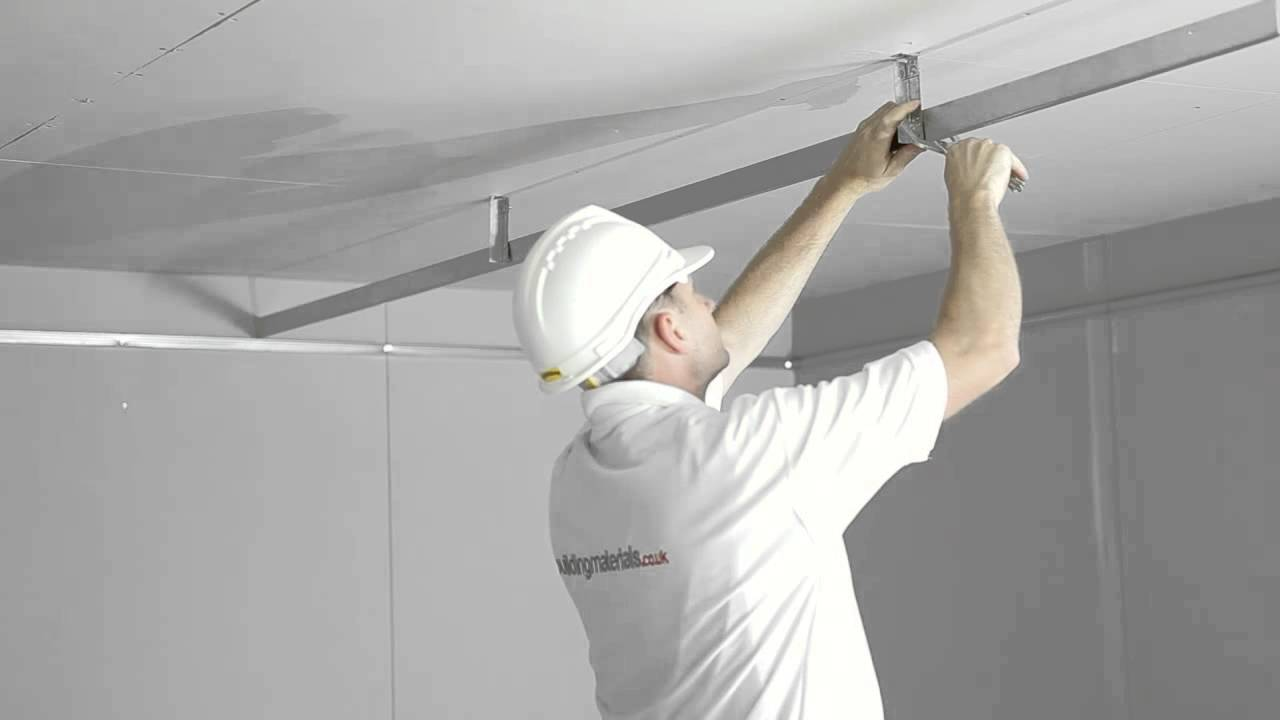 How To Install And Mf Plasterboard Ceiling Youtube