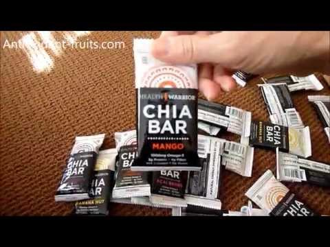 Health Warrior Chia Bars Arrive for Review - Antioxidant-fruits