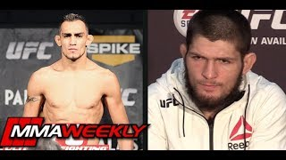 "Khabib Nurmagomedov Tells Tony Ferguson to ""Shut Up"", ""He"