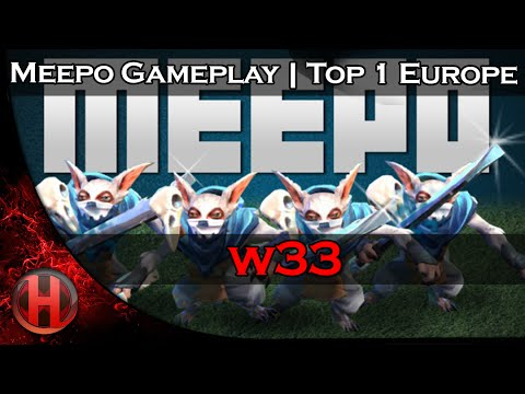 w33 7704 MMR Meepo Gameplay Dota 2 | Top 1 Europe Solo MMR