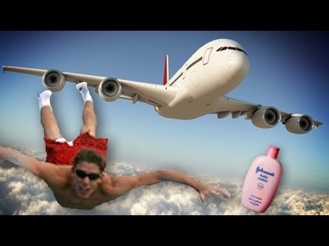 Masturbating Man Tries to Jump Out of Plane!