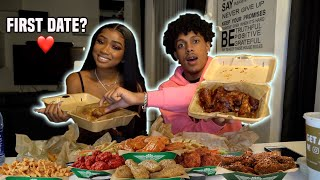 I Asked My CRUSH To Go w/ Me On Our First Date! **Wingstop Mukbang**