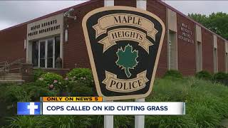 Viral video: Police called on 12-year-old mowing