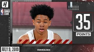 Anfernee Simons Full Highlights Blazers vs Jazz (2019.07.09) Summer League - 35 Points!