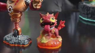 Carlos Alazraqui and Tom Kenny both voice Classic Spyro and Skylanders Hot Dog