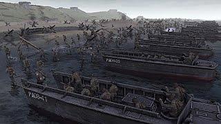 EL DESEMBARCO DE NORMANDÍA | Playa de OMAHA | Men of War Gameplay en Español | Aguacate!
