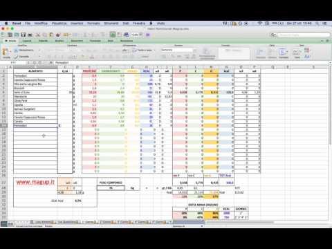 Spiegazione Schema Excel Dieta Mima Digiuno - Magup.it