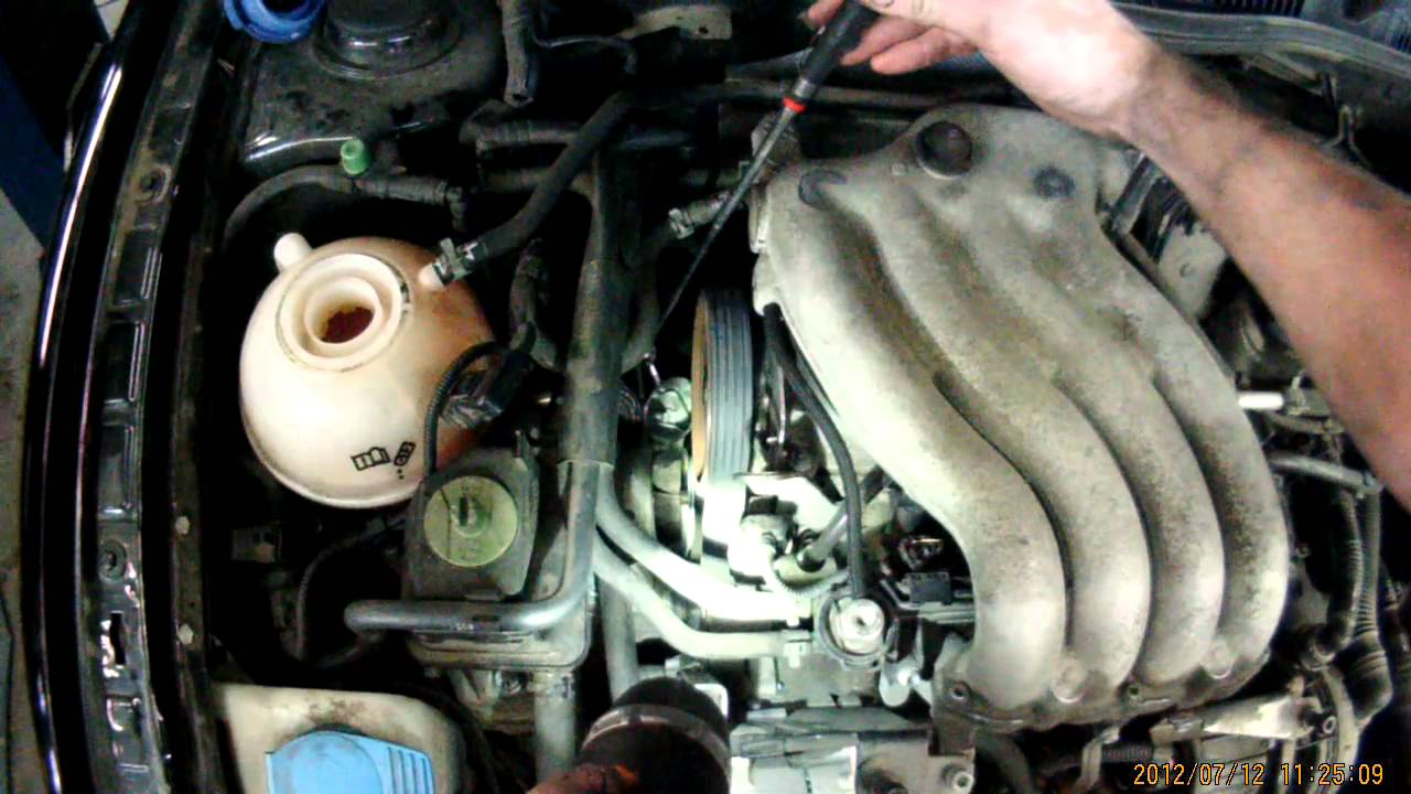 Vw A4 2 0l Timing Belt Tensioner Quot Tension Checking Quot Youtube
