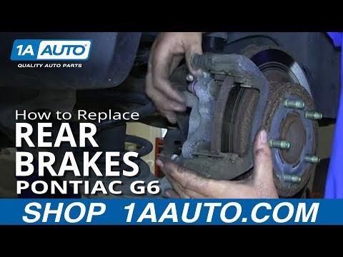 How To Install Replace do a Rear Brake Job Pontiac G6