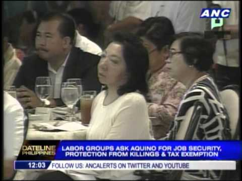 Labor groups ask Aquino to end contractualization