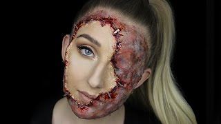 Stapled On Face | GORY HALLOWEEN MAKEUP TUTORIAL