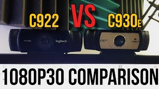 Logitech C922 vs. C930e Webcam Comparison (1080p 30FPS) // Pro Stream Webcam?