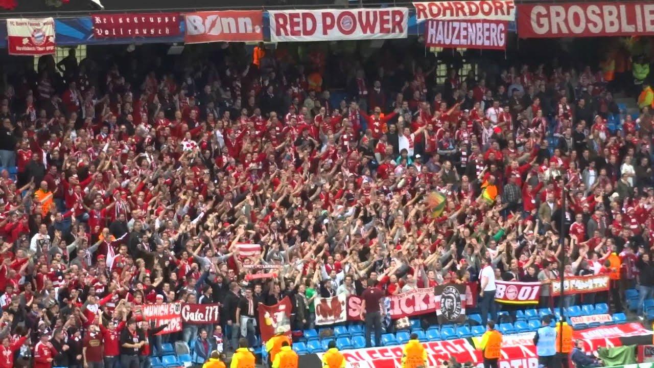 fans Bayern - City, Munich Bayern sing Manchester vs YouTube