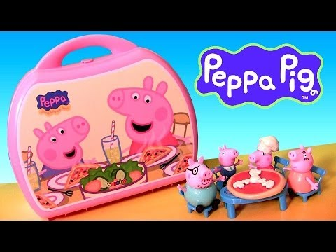 Peppa Pig Carry Case Pizzeria Playset Pizza Shop Toys
