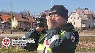 """Klaipėdos kelių policija akcijoje """"Greitis"""""""