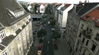 Nürnberger Straße Von Oben - Dronen Aufnahmen In Full HD