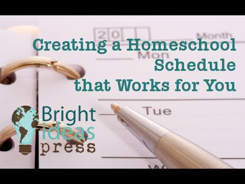 Creating a Homeschool Schedule that Works for You