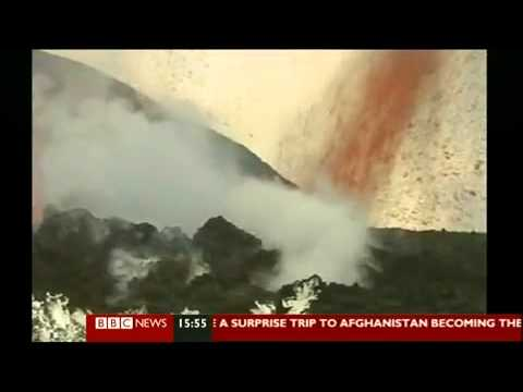BBC News Volcano erupts in South Iceland