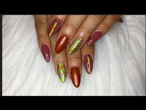 How To: Fall Inspired Acrylic Nails Design