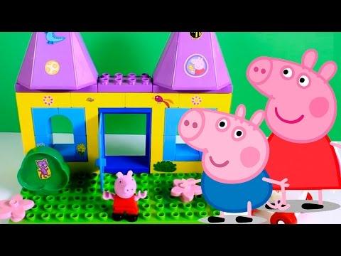 Princess Peppa Pig Castle Play Dough Playset - Make Princess Peppa George Dinosaur With Play Doh video
