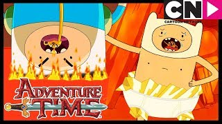 Adventure Time | Pranking Finn In Front Of Flame Princess | Jake Suit | Cartoon Network