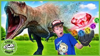 Dinosaurs vs Avengers! Dinosaur Disappears in Endgame Battle with Infinity Stones & Kids Nerf Toys