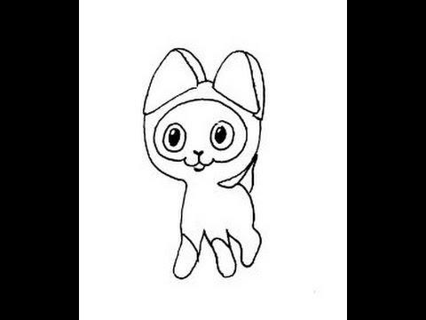 Видео как нарисовать котёнка Гав