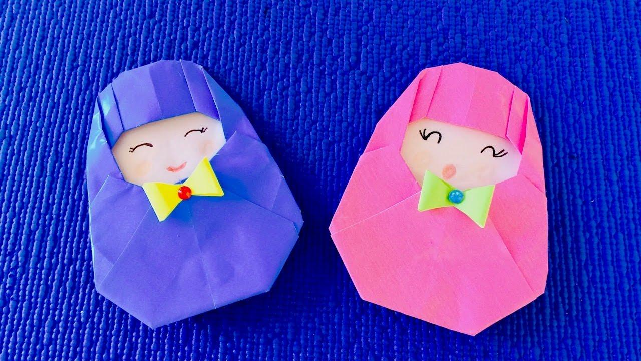 Поделки куклы с оригами 39