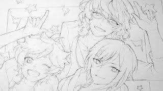 【あんスタ】Switchの線画を描いてみた