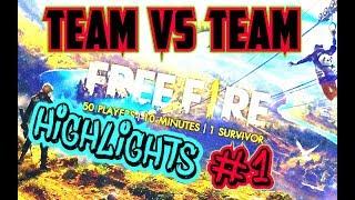 FREE FIRE BATTLEGROUNDS   TEAM VS TEAM    HIGHLIGHTS #1