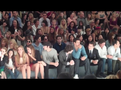 Kris Humphries, Scott Disick and Emma Roberts Front Row At The Jill Stuart Show