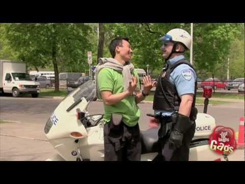 Tourist And Cop Sexy Gay Kiss Prank video