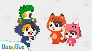 Daddy Monster is Catching Baby Kitten | Baby Kitten | Kids Pretend Play | Super Rescue Team |BabyBus