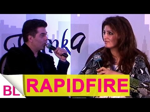UNPLUGGED | Twinkle Khanna's RAPID FIRE session with Karan Johar!