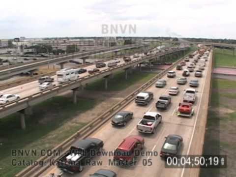 8/28/2005 New Orleans, LA - Massive Contraflow Evacuations - Katrina Raw Master 05