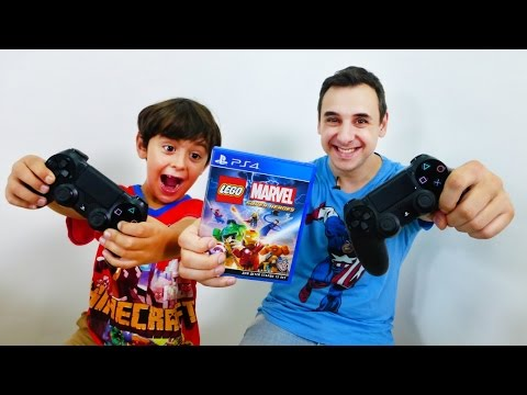 Видео игры на PS4 (PlayStation) от ЛЕГО МАРВЕЛ, Папы Роба и Ярика! LEGO MARVEL SUPER HEROES!