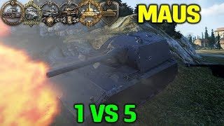 World Of Tanks | Maus - 10800 Damage - Average VS Noobs