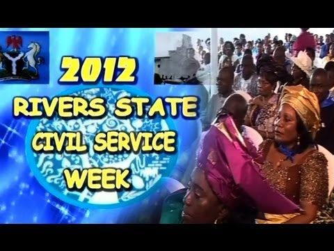Rivers State Port Harcourt Nigeria 2012 Civil Service Week - With Mrs Esther Anucha, JP Part Two