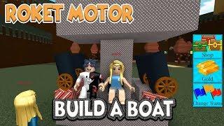 Batmayan Gemi Roket Motor Taktık !! / Build A Boat For Treasure / Roblox Türkçe / Pratik Oyun