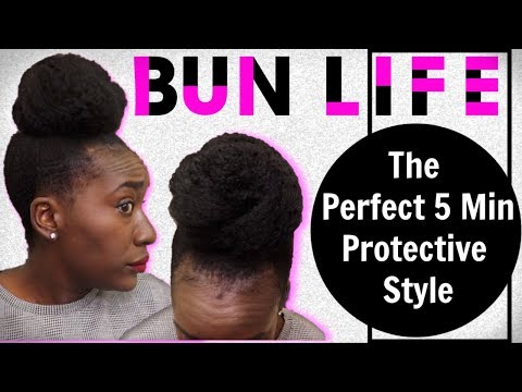 Easy Bun Hairstyles on 4c Natural Hair + GRWM Chit Chat