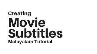 Blender Malayalam How To Create Movie SUBTITLES