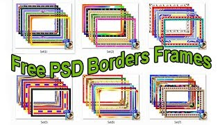 PSD Borders Frames for photoshop free download