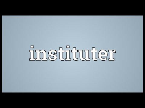 Header of instituter