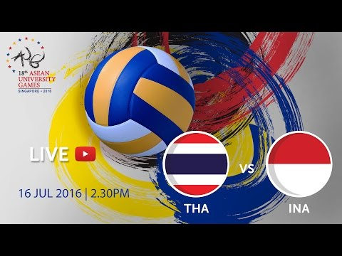 Volleyball Women's Finals: Thailand vs Indonesia | 18th ASEAN University Games Singapore 2016