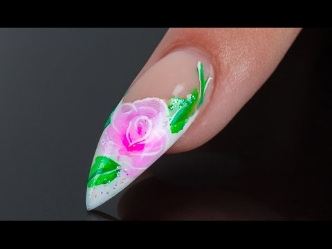 ONE STROKE Floral Nail Art - Nails 21